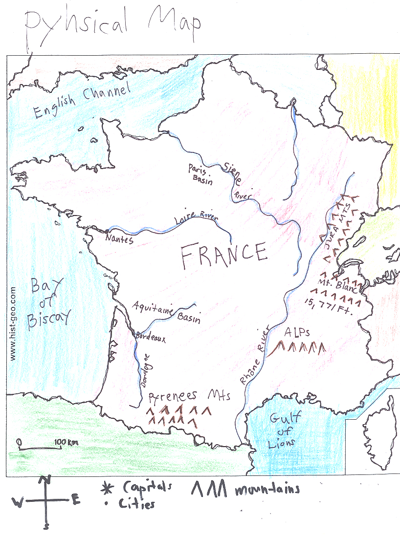 Ljhsmmartin FrontPage - France physical map